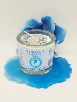 Throat Chakra Soy Blend Votive Candle