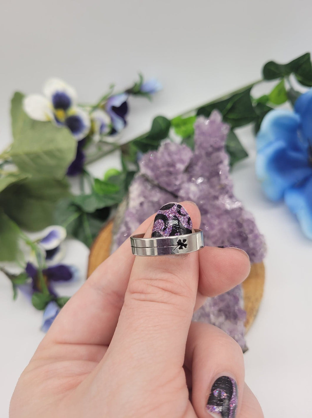 Four Leaf Clover Ring Size 10