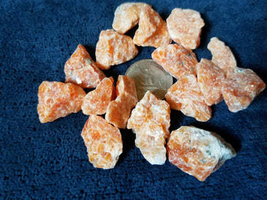Brazilian Orange Calcite Raw