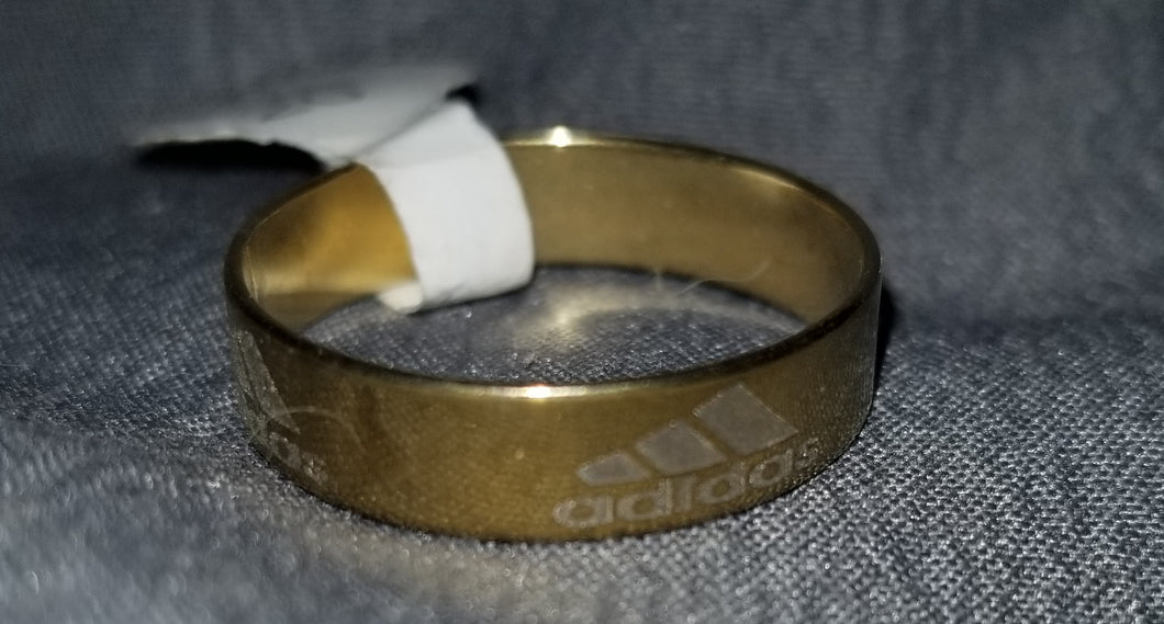 Gold Addidas Ring Size 8/9