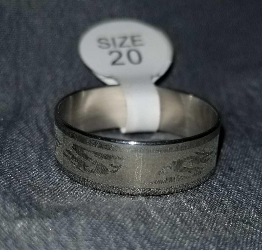 Silver Chinese Dragon Ring Size 8/9