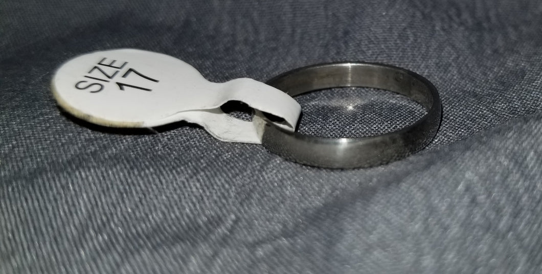 Thin Plain Silver Ring Size 6
