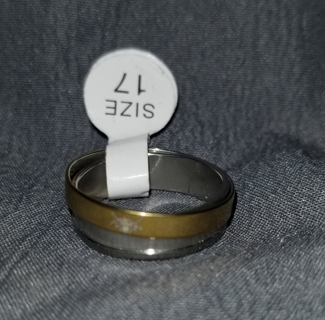 Silver/Gold Double Ring Size 6
