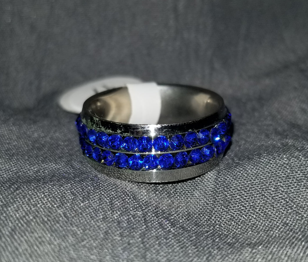 Sparkle Blue Ring Size 6