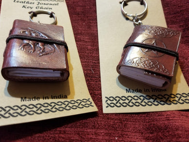 Leather Journal Key Chains