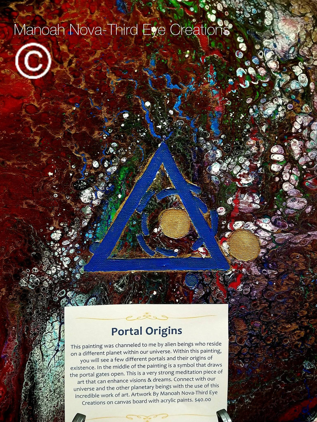 Portal Origins Canvas Board Artwork
