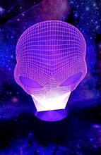 Alien Head Color Changing Lamp