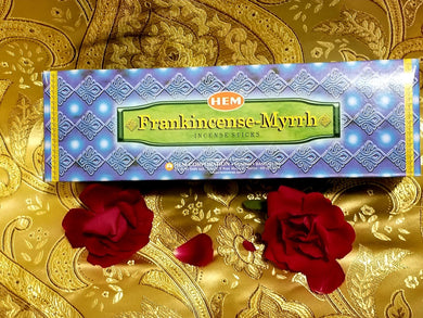 Hem Frankincense & Myrrh Incense Sticks 8 gram (8 Pack)
