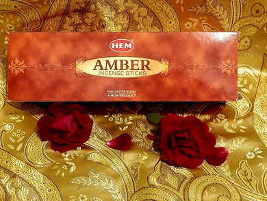 Hem Amber Incense Sticks 8 gram (8 Pack)
