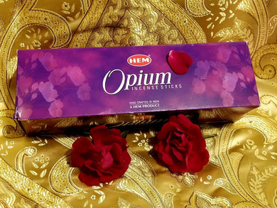 Hem Opium Incense Sticks 8 gram (8 Pack)