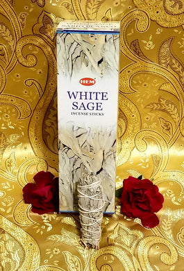 Hem White Sage Incense Sticks 8 gram (8 Pack)