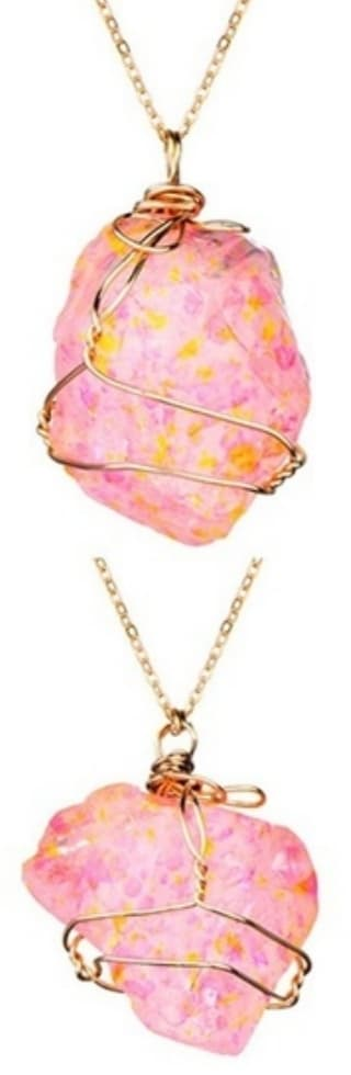 Pink Speckled Infusion Necklace