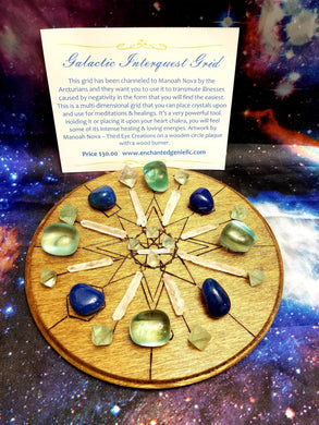 Galactic Interquest Grid Wooden Plaque Art By Manoah