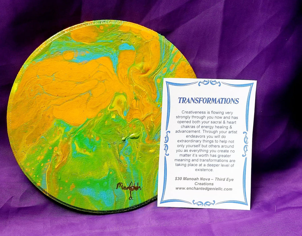 Transformations Wooden Plaque Art By Manoah