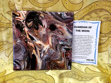 Guardian of the Moon Tile Painting By Manoah