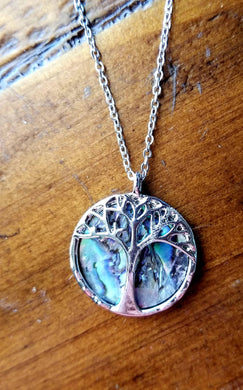 Divine Abalone Tree Necklace