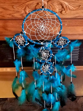 Ocean Dreams Blue 5 Hoop Light-Up Dream Catcher
