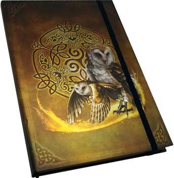Celtic Owl Hardback Journal