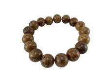 Wenge Wood 12mm Round Bead Bracelet
