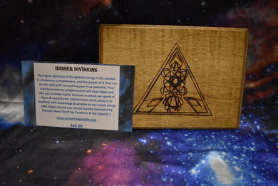 Higher Divisions Wooden Art Plaque