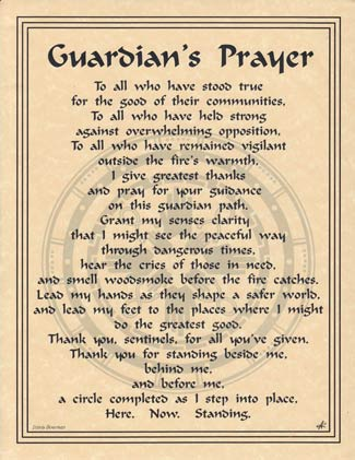 Guardians Prayer Poster