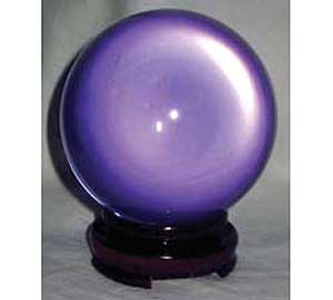 Alexandrite Lavender Crystal Ball w/stand (55mm)