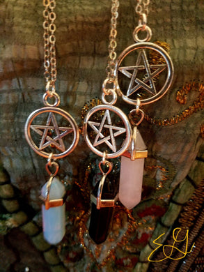 Pentagram Gemstone Necklace