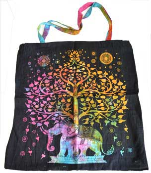 Elephant Tree Tote Bag