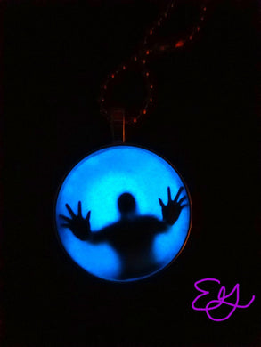 Trapped Ghost Necklace (Blue Glow in the Dark)