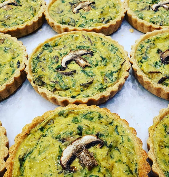 "Vegan Quiches 4.5"" (Frozen) - Store Pick Up or Delivery within Radius"