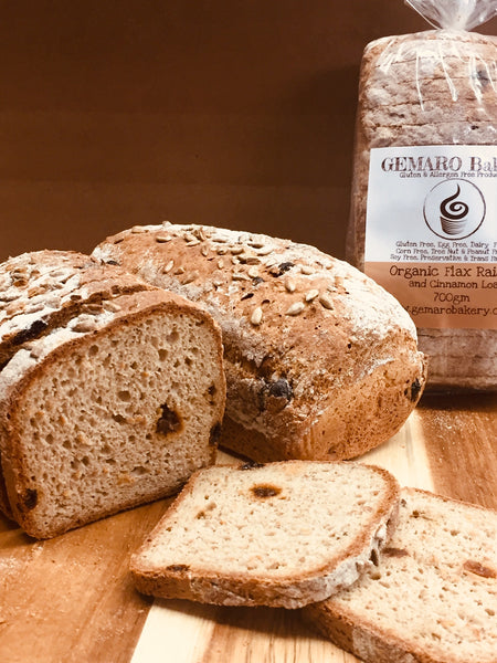 Organic Flax, Raisin and Cinnamon Loaf 700g