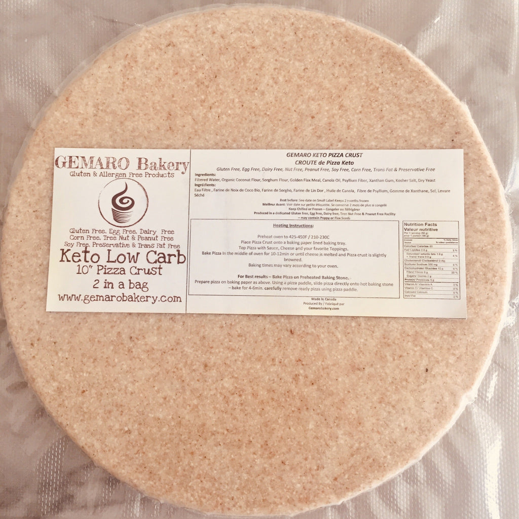 Keto Pizza Crust 10inch (2/pk) - Frozen