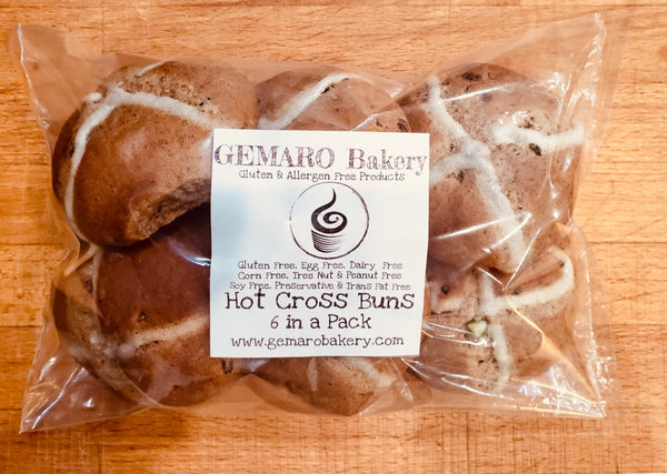 Hot Cross Buns - 6 in a pack