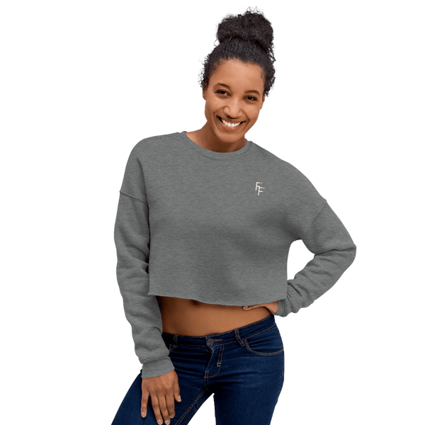 Prestige Crop Sweater - Deep Heather
