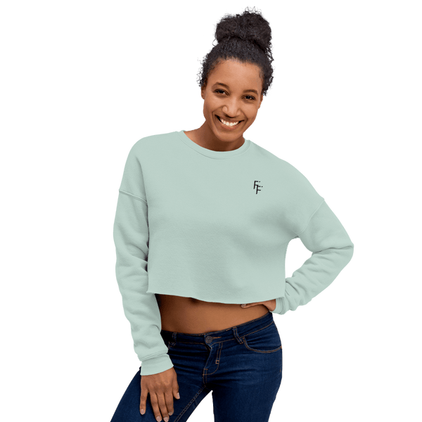Prestige Crop Sweater - Aqua Blue