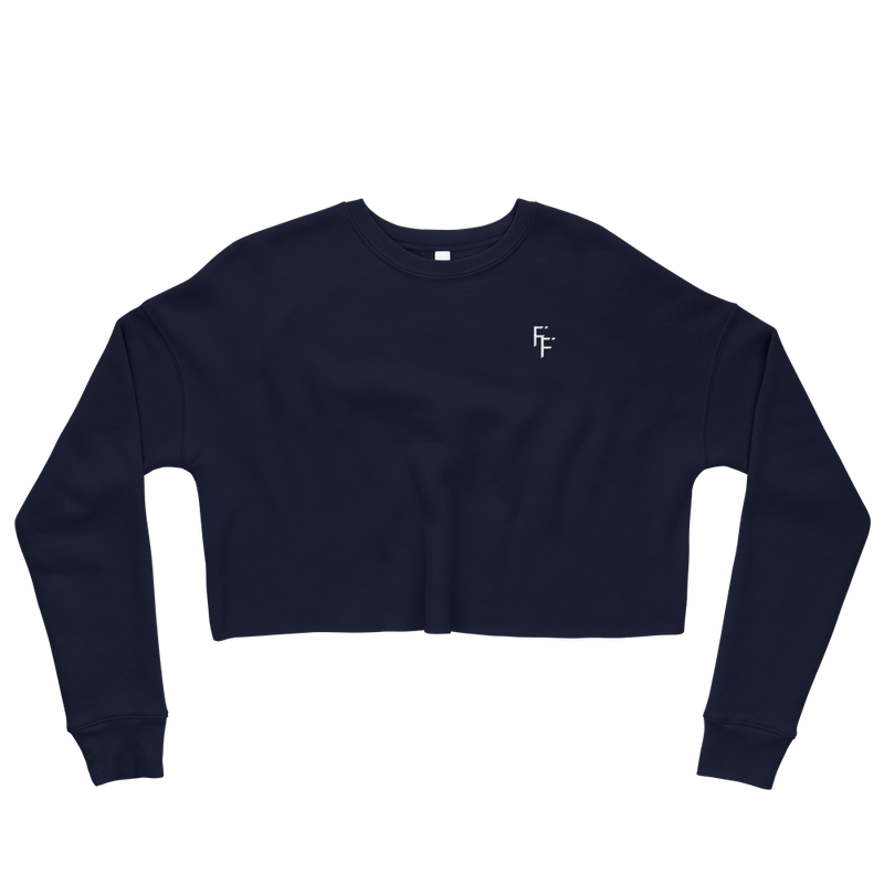 Aura Crop Sweater - Navy