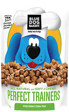BLUE DOG BAKERY - Healthy TREATS for Dogs - PERFECT TRAINERS - 6 oz