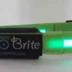 Brite Dog EL (electroluminescent) Collars - Green or Red