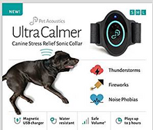 Pet Acoustics Ultra Calmer Canine Stress Relief sonic Collar (S, M, L)