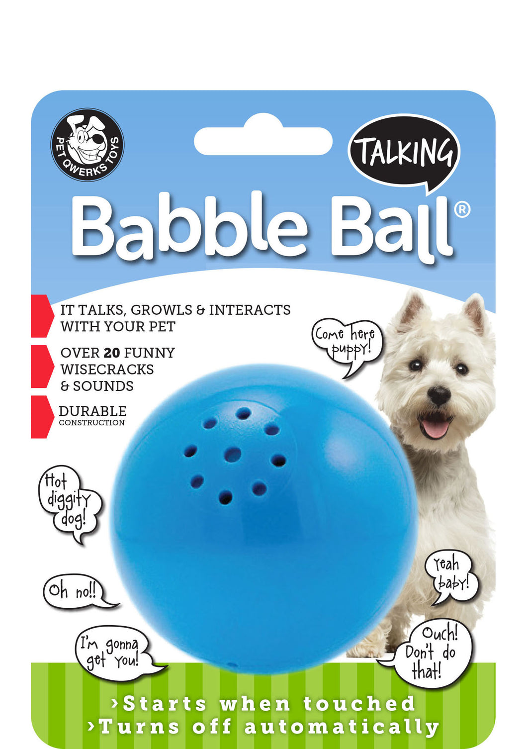 Pet Qwerks BABBLE BALLS - Talking  or Animal Sounds or Cat Sounds