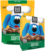 BLUE DOG BAKERY - Healthy TREATS for Dogs- SOFTIES Peanut Butter Flavor - 26 oz Pouch
