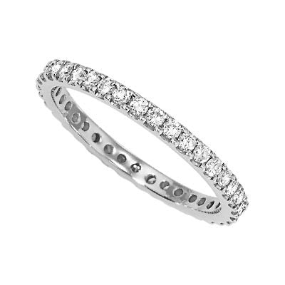 Platinum and Diamond Eternity band - from Holsten Jewelers