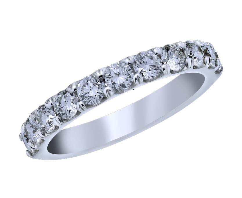 18kt White Gold Shared Prong Diamond Band - from Holsten Jewelers