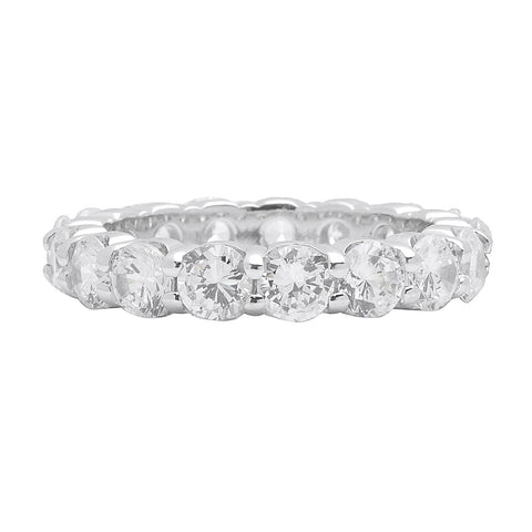 18k White Gold Diamond Eternity Wedding Ring - from Holsten Jewelers