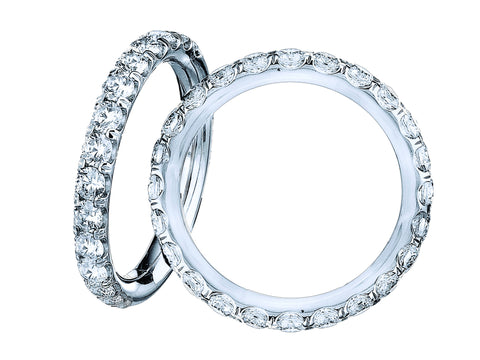 18kt White Gold Diamond Eternity Ring - from Holsten Jewelers