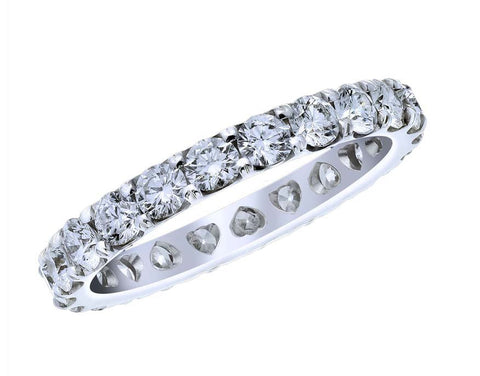 18kt White Gold Diamond Eternity Band Shared Prong