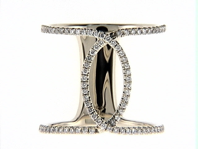 White Gold and Diamond Interlocking Fashion Ring