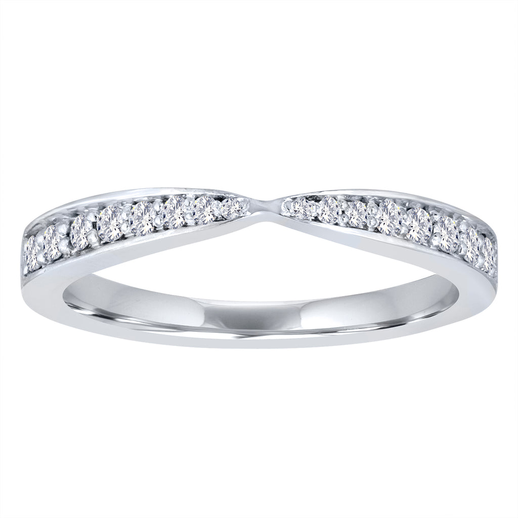 White Gold Diamond Tapered Ring