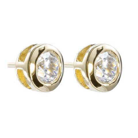 .10CT Bezel-set Round Diamond Stud Earrings