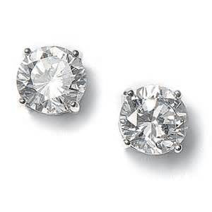 14K White Gold .20CT Diamond Studs - from Holsten Jewelers